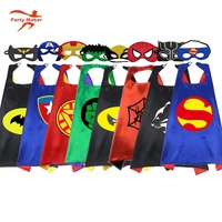 Yiwu Chaola Party costumes Diy pattern boys and girls custom child superhero cape and mask for kids set