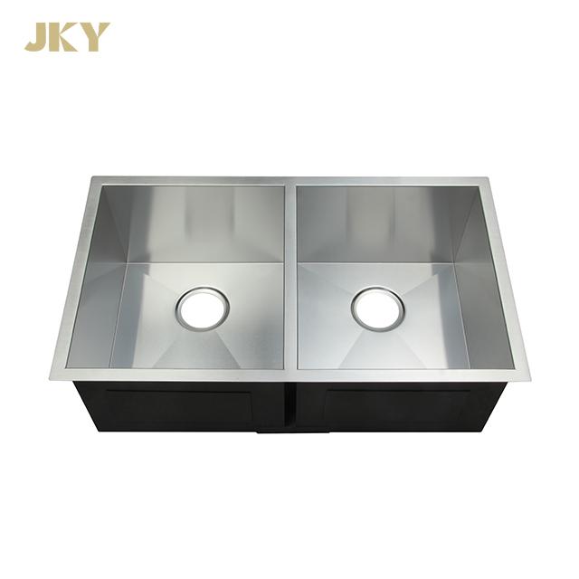 50/50 Double Bowl Supplier Under Mount Kitchen Sink Wash Basin Stainless Steel