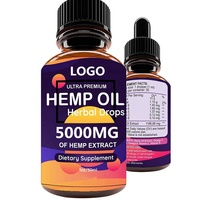 Hemp Oil Drops 5000 mg Hemp seed oil 100% Natural Ingredients Vegan Friendly GMO Free for whole sale