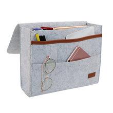 Прикроватная сумка, карманы, домашний диван, прикроватный стол, войлок, висячий органайзер для хранения, сумка, Новинка(Китай)
