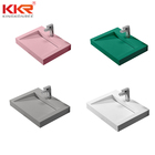 kingkonree pure white solid surface sink wc basin/ toilet hand wash basins/ mini wash basin corian sink