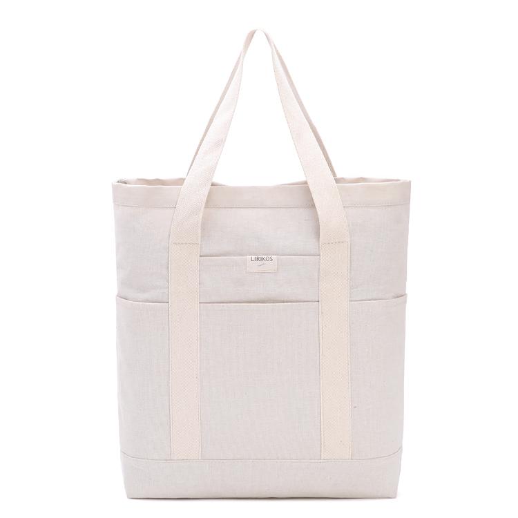 Fabricant personnalisé logo imprimé écologique naturel lourd 12oz coton toile fourre-tout sac à provisions