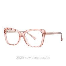 MINCL/2020, классические ретро очки для близорукости, оправа для женщин, коричневые прямоугольные прозрачные линзы, очки Tr90, мужские Оптические ...(Китай)
