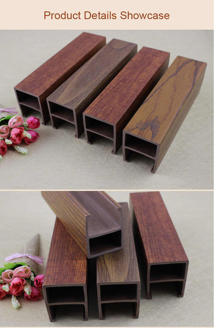 Venta caliente 40*45mm de plástico compuesto de madera de azulejos de techo para la decoración de interiores