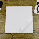 Microfiber warp knitting fine white towel non-elastic disposable white