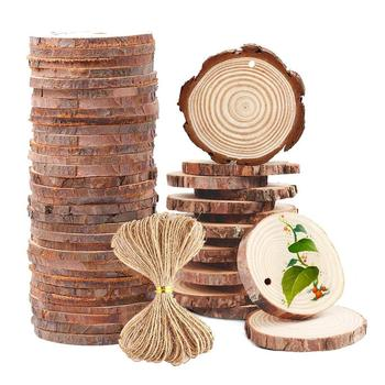Christmas ornaments DIY blank wooden arts crafts supplies sale natural round circles unfinished pine wood slices