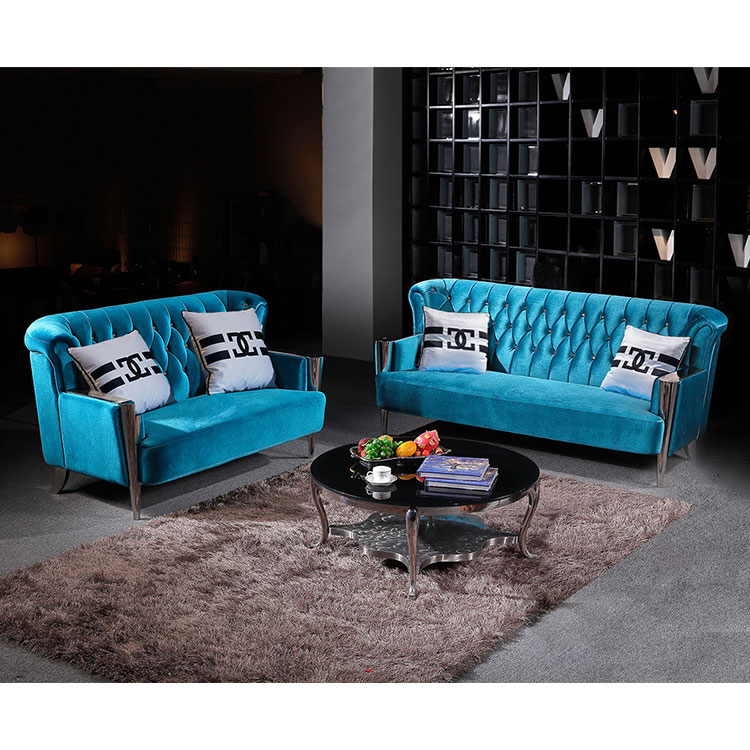 Modern Fabric Blue American Style Modern High Back Sofa Chair Blue Velvet Living Room Chesterfield Sofa Set Buy Wooden Sofa Chair Modern High Back Sofa Chairs Big Sofa Chair Product On Alibaba Com