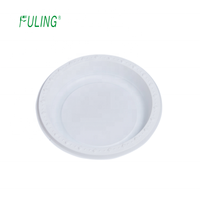 platos deshechables factory price food service 9 10 inch robust durable round disposable plate pp/ps