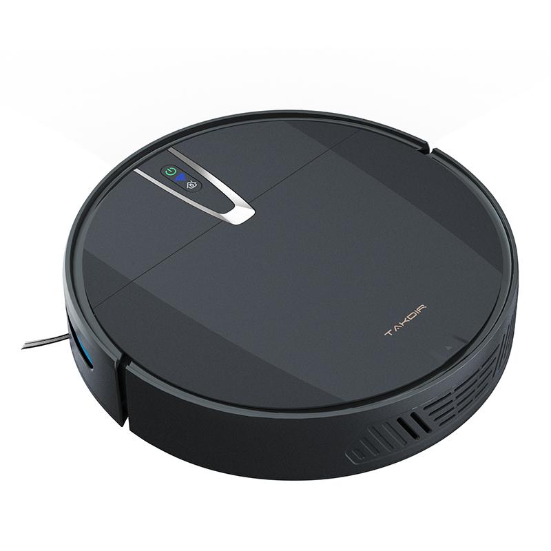 Smart Wet Dry di Pulizia del Pavimento Robot Aspirapolvere Spazzare Cleaner Wifi App Fare Mappa
