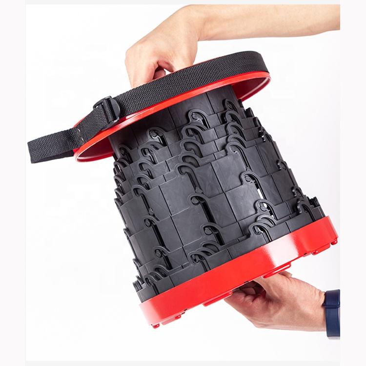 round plastic adjustable outdoor fishing BBQ retractable portable telescopic folding stool
