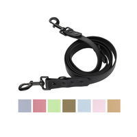 Henthane New Arrival Wholesale Custom Pet Products Leash , Ultra-Comfort Waterproof Soft PVC Dog Leash with Metal Hook