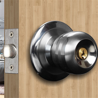 Indoor Wooden Rim Door Cylindrical Knob Door Locks With 3 Key