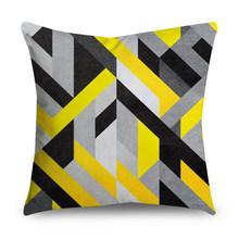 Декоративная 45x45 см желтая наволочка для подушки, полиэстер, бохо, Геометрическая, Геометрическая, украшение для дома, стул, диван, наволочка(Китай)