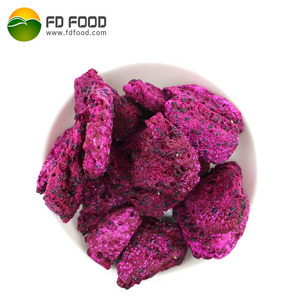 Tropical Fruit Freeze Dry Food Powder White Pitaya Slice Bulk Vacuum Freeze Dried Red Dragon Fruit