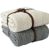 2019 New Two Layer 100% Acrylic Knitted Throw Blanket Knitting Crochet Plaid for Free Sample