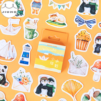 45pcs/pack Panda Totem Stationery Stickers Pack Posted It Kawaii Planner Scrapbooking Memo Stickers Escolar School Supplies