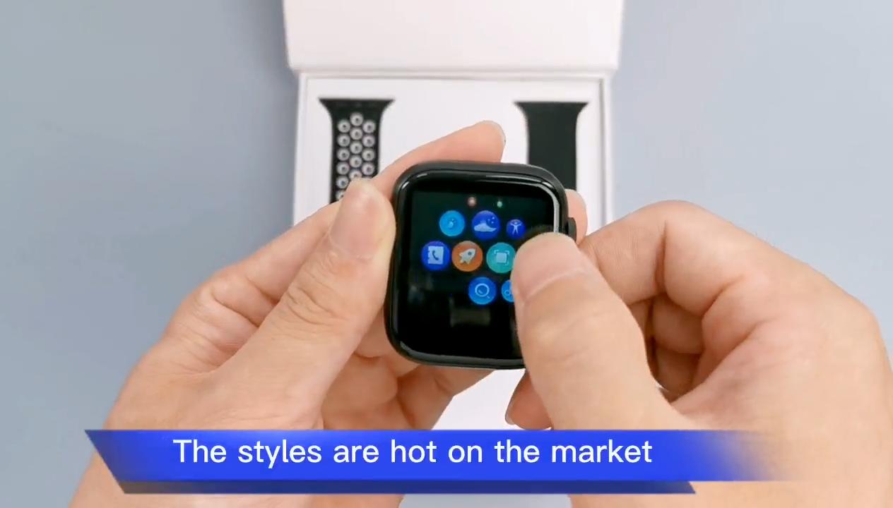 2020 Smart Uhr reloj T55 mit dual abnehmbaren trägern Android wasserdicht Armband serie 5 6 preis Sport T 55 SmartWatch