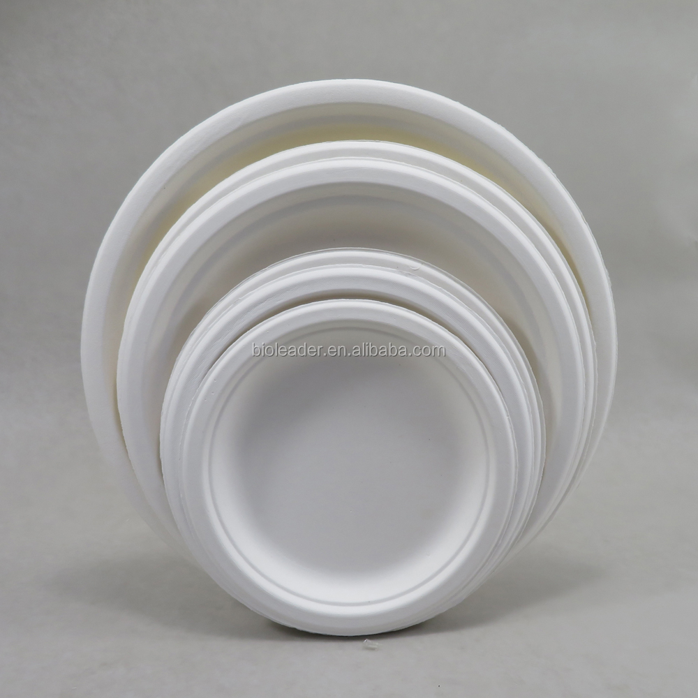 Disposable Biodegradable <strong>Plates</strong> Sugarcane Bagasse Paper Pulp Mould <strong>Plates</strong>