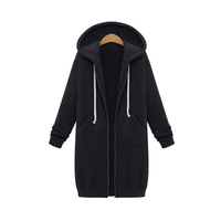 Explosion models autumn and winter women coats long hooded long-sleeved sweater jacketss women