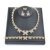 Best sell xoxo 18k gold plating wedding zircon necklace bracelets set african jewelry sets for women