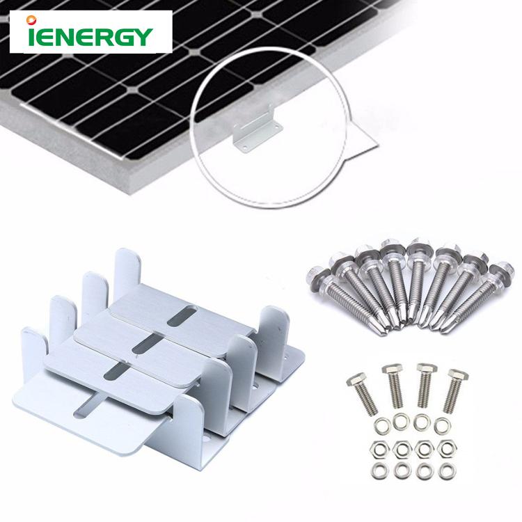 Top Quality Solar Panel Aluminum Mounting Brackets Galvanized Z Solar Bracket