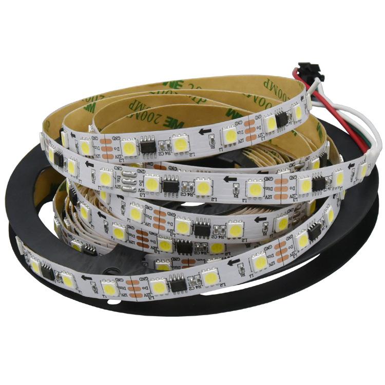 12v 60leds/m 20IC rgb led strip ws2811 5050 led pixel strip programmable IP20 5m black pcb led bulb spectrum smd 5050