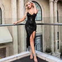 Женское платье для выпускного вечера It's YiiYa, вечернее платье с v-образным вырезом и блестящими блестками размера плюс, 2020 K132(China)