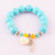 Hot Selling Wholesale Magnet Charm Beads Stretch Natural Stone Turquoise Bead Bracelet For Women