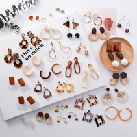 Wholesale factory accept OEM high quality adult acetate earring jewelry