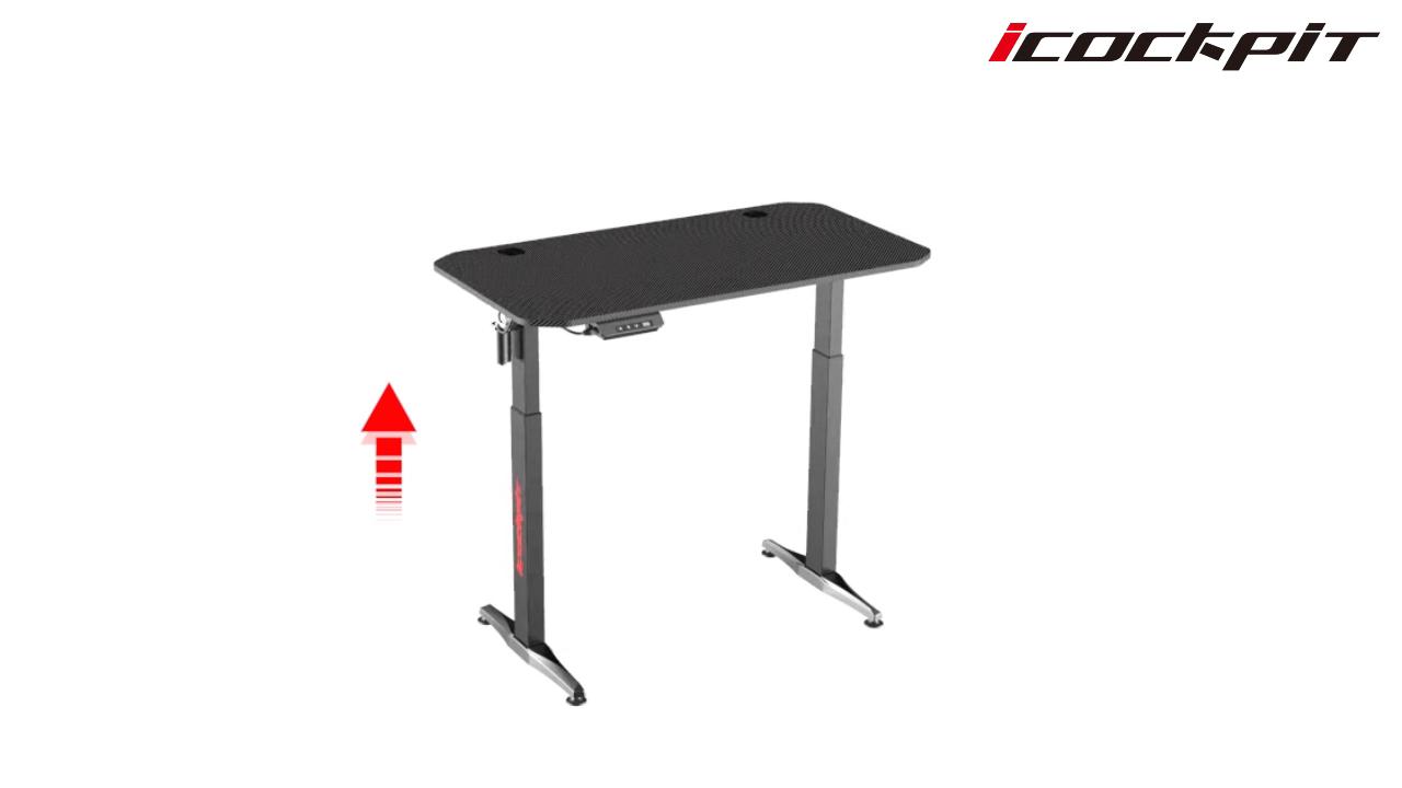 Двухмоторная умная мебель, электрическая регулируемая по высоте стойка для сидения, офисный стол