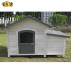 High quality outdoor pet cage carrier wooden dog kennel with storage box supply