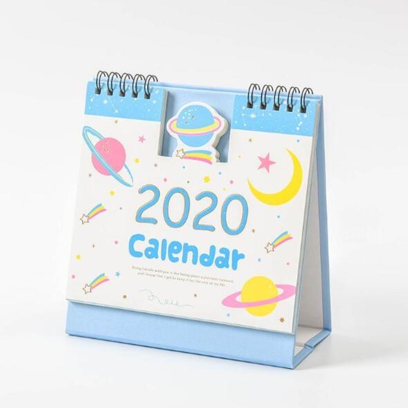 2020 свежий стиль DIY мультфильм Животные Мини Настольная бумага календарь двойной ежедневный планировщик стол планировщик годовой Органайзе...(Китай)