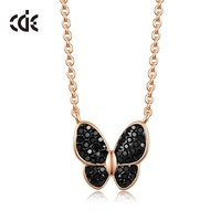 Women Crystal New Design Jewelry Butterfly Custom Necklace