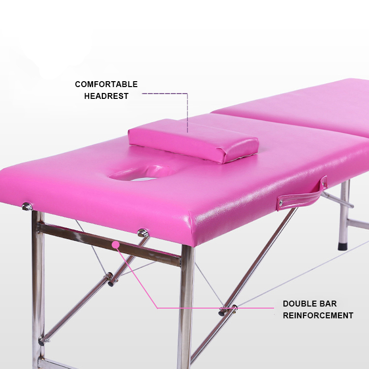 Economical And Durable Pink Portable Foldable SPA Massage Bed