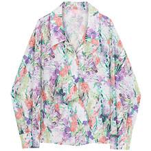 Женская блузка с принтом XITAO, свободная, модная, повседневная, элегантная, с отложным воротником, подходит ко всему, 2020, новая осенняя рубашка...(China)