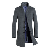 2020 Spring Men Casual Slim Fit Woolen Coat High Quality Trench Coats