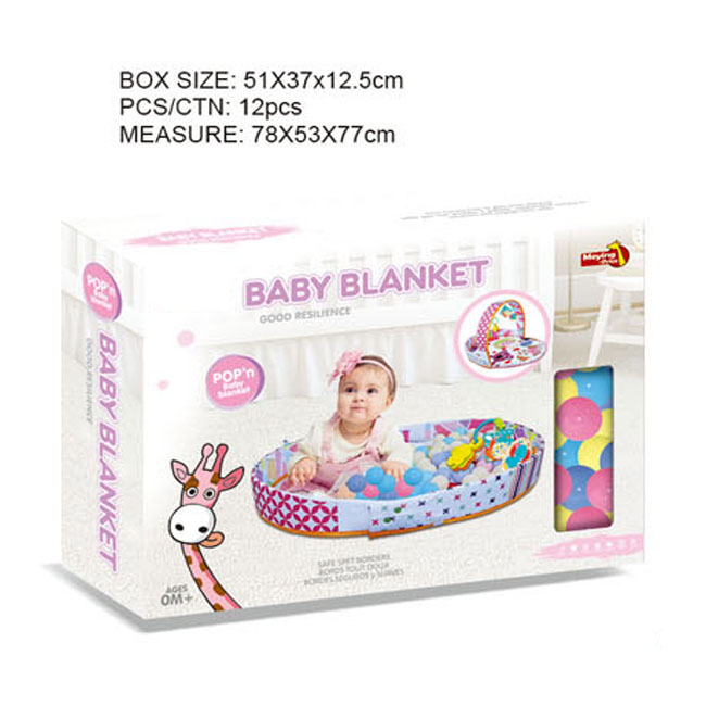 2020 Toy Toy Mother-infant Interactive Toy Baby Play Mat Baby Blanket with Rattles