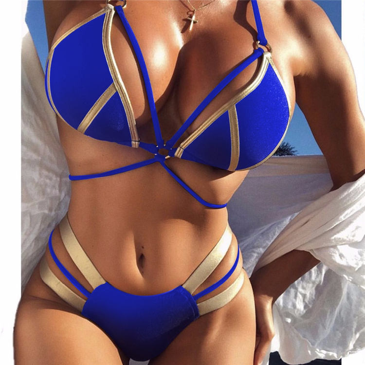 2020 <strong>New</strong> <strong>Bikini</strong> Woman Fashion Hot Gold Swimsuit Girl <strong>Sexy</strong> Stitching <strong>Bikini</strong>