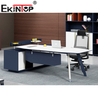 Ekintop Luxury Wood Table Modular Office Furniture Modern CEO Executive Desk Import From China