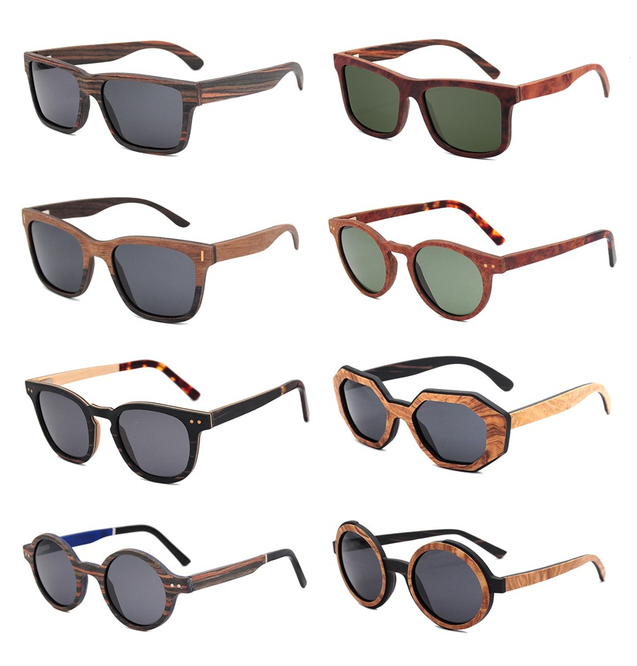 Men style unique design 2020 fashion sunglasses made in China wholesale wooden frame glasses