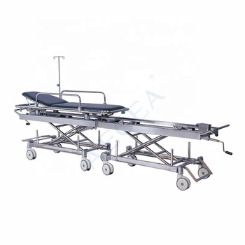 AG-HS011 ward nursing equipment stainless steel patient transfer surgical hospital portable stretchers