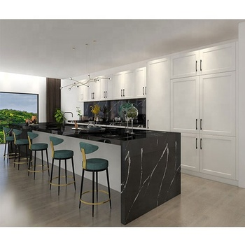 Customized Australian style project white shaker doors modern modular kitchen