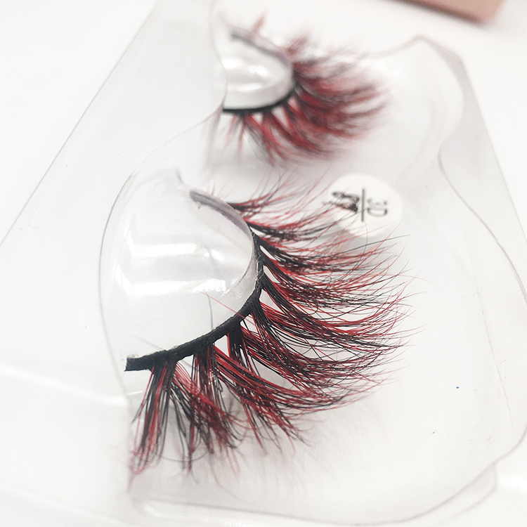 Bulk Mink Eyelashes Different Styles Butterfly Cheapest 25mm Color Lashes Wholesale