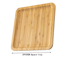 Square Tray Serving Eco-friendly Bamboo Wooden Square Tray Custom Logo Kitchen Serving Tray-20*20CM