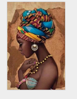 Oil Painting Home Beauty Decorative African Women Oil Paint By Number Canvas Triptych Painting Paint By Number