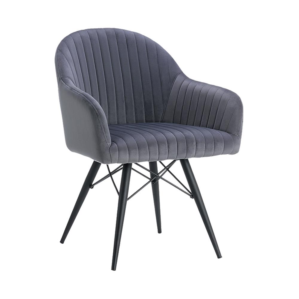 Luxury dinning room furniture skin-friendly soft velvet cloth arm dinning chair