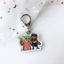 Милый детский брелок в виде Йоды «Звездные войны», брелок Skywalker для мужчин и женщин, Модный Аниме ювелирный брелок, Подарочные игрушки(Китай)
