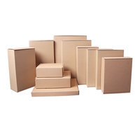 Recycled Wholesale Custom Made brown kraft corrugated Paper carton Shipping Folding Packaging Gift Box