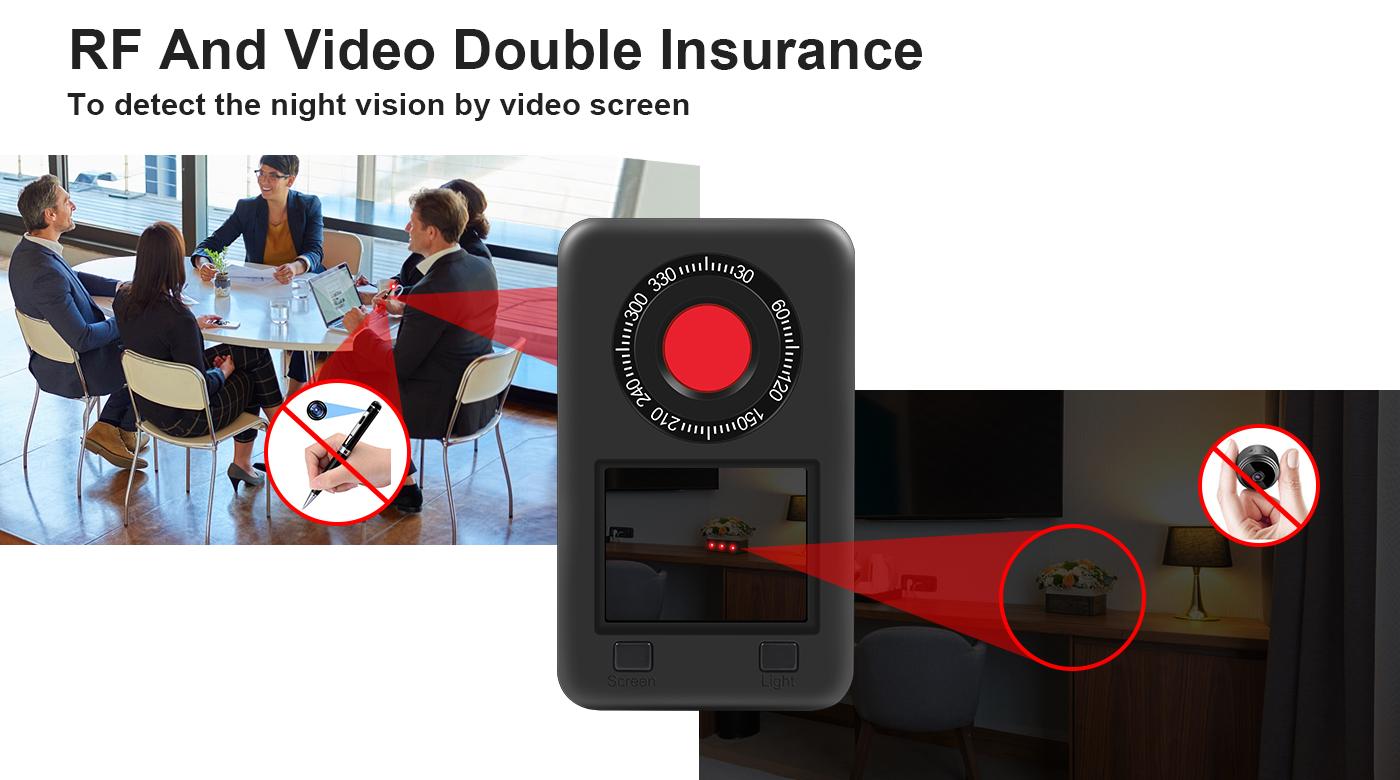 ナイトビジョンカメラ検出器rf irスキャン液晶画面カメラファインダー
