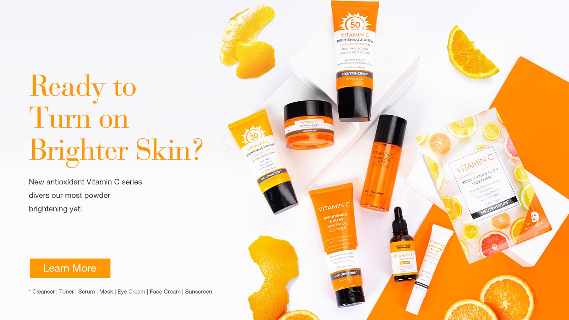 सौंदर्य जैविक त्वचा ब्राइटनिंग चमकती चमक Whitening चेहरा विटामिन सी क्रीम